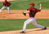 Pitcher Blaine Boyer in an Arizona Diamondbacks game — Stock Photo