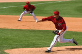 Arizona Diamondback Right Hander Chad Qualls Pitches — Stock Photo