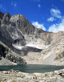 Chasm Lake at the base of Longs Peak, Rocky Mountain National Park, Colorad — Stock Photo