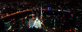 A Shanghai, China, Aerial Night Scene — Stock Photo