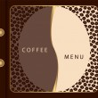 Coffee menu template — Stock Vector