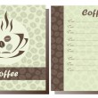Set of two templates Coffee shop menu — Stock Vector