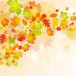 Autumn leaves background — Stock Vector #8019096