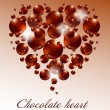 chocolate heart — Stock Vector