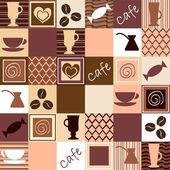 Coffee seamless — Stock Vector