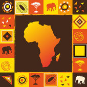 African seamless — Stock Vector