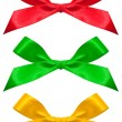 Set of color bows isolated on a white - Stock Photo