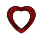 Red frame in heart shape — Stock Photo