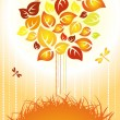 Autumn background - color tree — Stock Vector