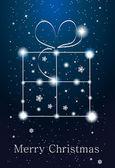 Constelações - caixa de presente no céu — Vetor de Stock