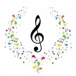 Music logo — Stock Photo #8164692