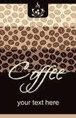Template Coffee shop menu — Stock Vector