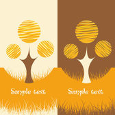 Set of two Nature backgrounds — Stock Vector