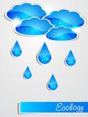 Paper rain — Stock Vector