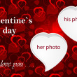 Valentine`s photo frame - Stock Photo