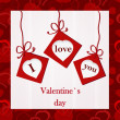 Valentine`s card - I love you — Foto Stock