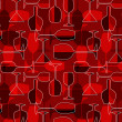 Seamless wineglass background - Stock Photo
