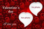 Valentine`s photo frame — 图库照片