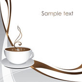 Coffee Cup.Blank for caffe , print ,web sites — Stock Vector