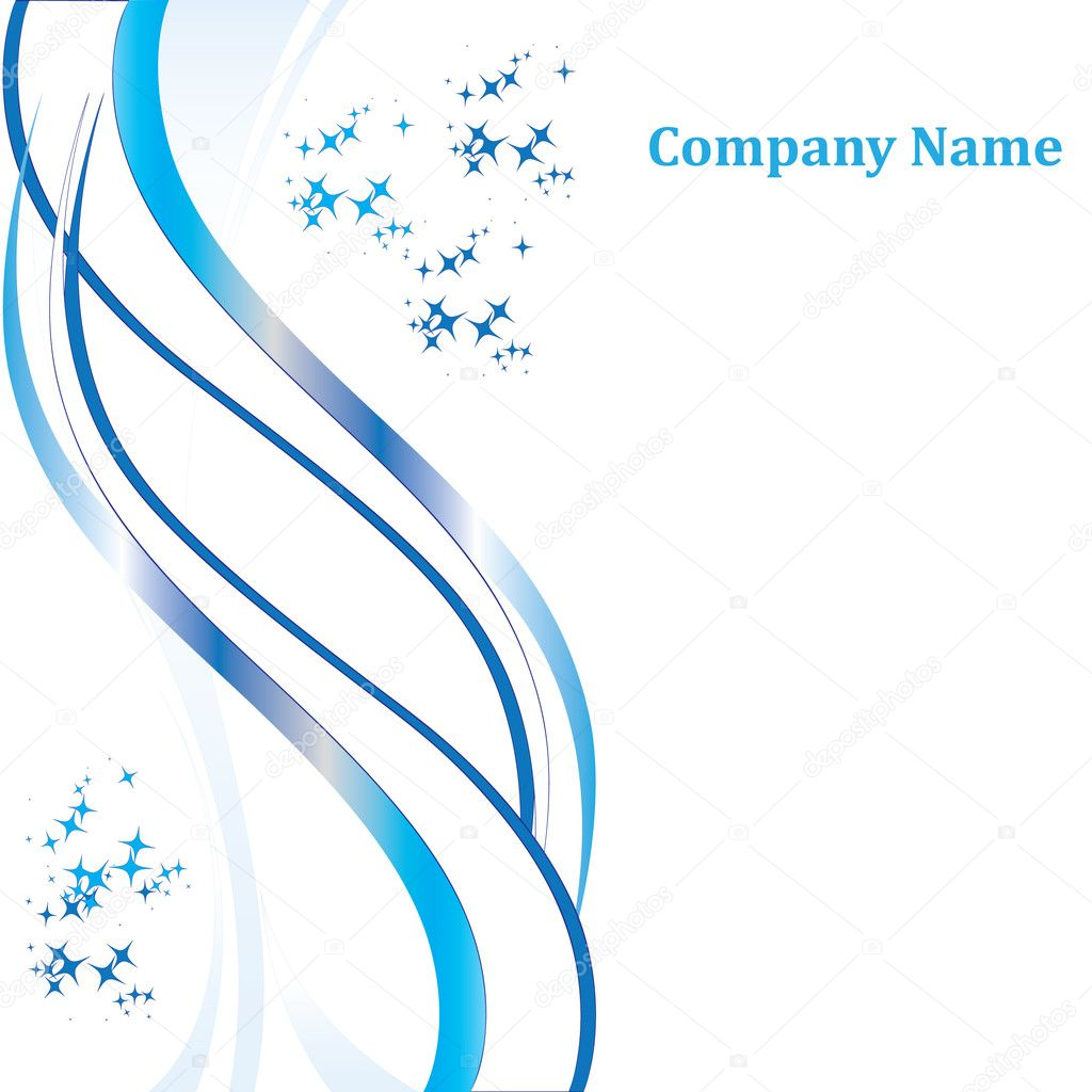 Snow blank. Company blank for your company — Stock Vector #8010265