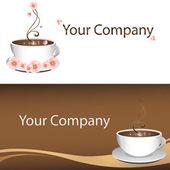 Logotipo para su club de café o bar — Vector de stock