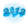 2012 year illustration for print  or web — Stock Vector