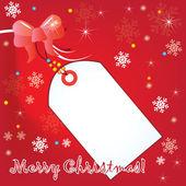 Merry christmas2 postcard for print — Stock Vector