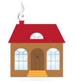 Huis om te worden gebruikt als een symbool of een pictogram — Stockvector