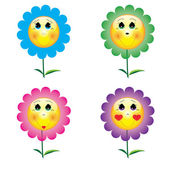 Cartoon flower icons and illustrations for your web sites — Stock Vector