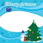 Christmas postcard for your company or for your frends — ストックベクタ