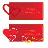 Banners for happy valentines day for print — Stock Vector