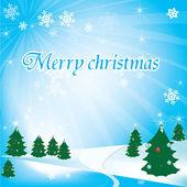Рождественская открытка для вашей компании или веб-сайт — Cтоковый вектор