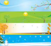 Seasons banner illustrations for web sites — Stock Vector
