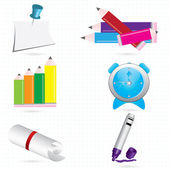 3d icons for your company or scool web sites — 图库矢量图片