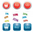 Business icons for web sites Commerce Retail Sale — Stock Vector