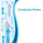 Cartel moderno de negocios en blanco para su empresa — Vector de stock