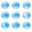 Blue Icons set for shop.for web — Stock Vector