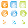 Rss icons Icons set for  web — Stock Vector