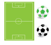 Football illustration and icons for sport — Stock Vector