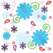 Flower textures pattern  illustration  for  wallpaper — Stock Vector