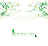 Camomile abstract background illustration — Stock Vector