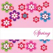 Spring card for your postcards  or for web — Stock Vector