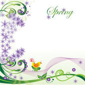 Spring form for your postcards or web sites — Stock Vector