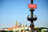 Czech Bridge over Vltava in Prague — Stock Photo