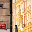 Street sign in Prague's New Town — Stock fotografie #8058262