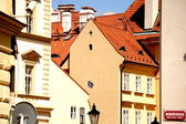Typical houses of Old Prague — Stock Photo