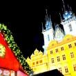 Christmas and New Year Eve atmosphere on Old Town Square in Prague — Stock Photo #8267127