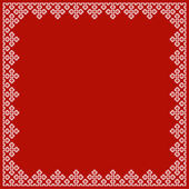 Vector Christmas frame with cross pattern — Stock Vector
