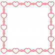 Stock Vector: Ornamental Valentine background with hearts
