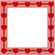 Stock Vector: Valentines frame background with hearts